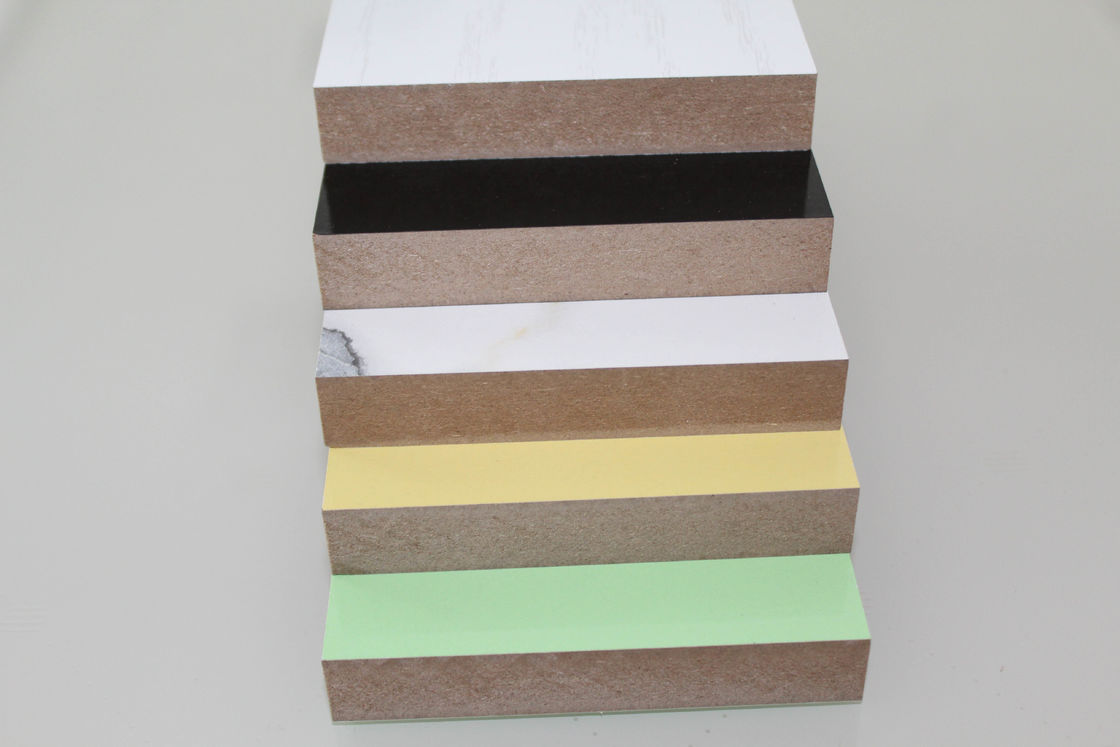 Colored Solid Wood Grain MDF Board , Decoration Laminated MDF Wall Panels