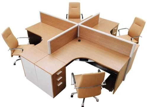 Standard Double Divisions Particle Board Office Furniture For Executive Office Decor
