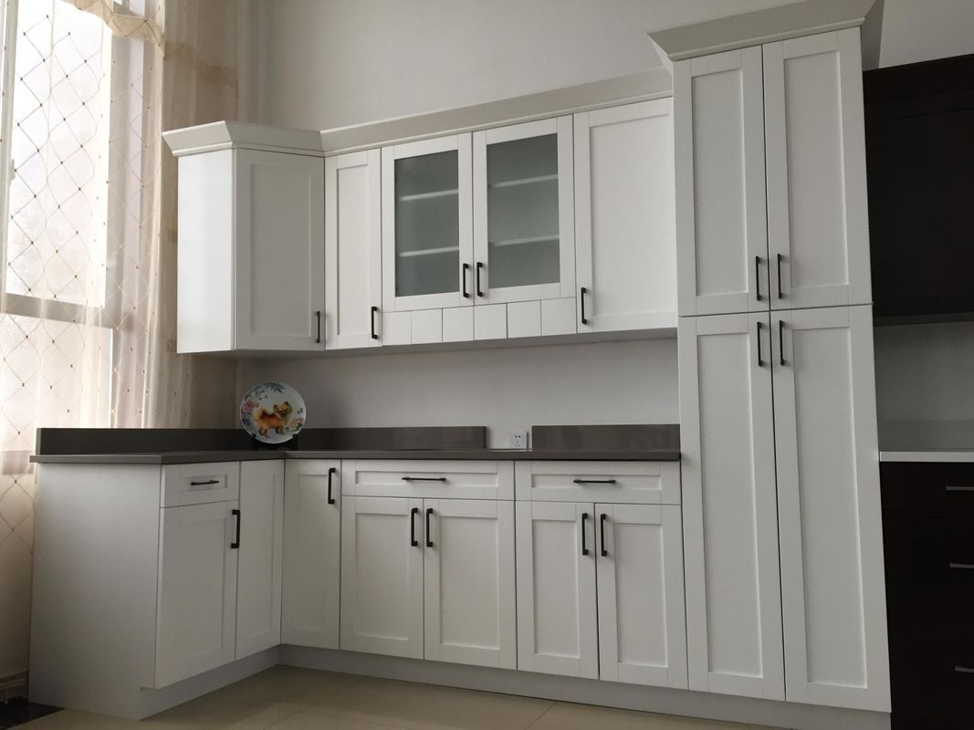 High Gross White Particle Board Kitchen Cabinets For House Kitchen Decoration