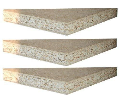 Poplar Particle Board Laminated Sheet , E1 Glue Pallet Compressed Particle Board