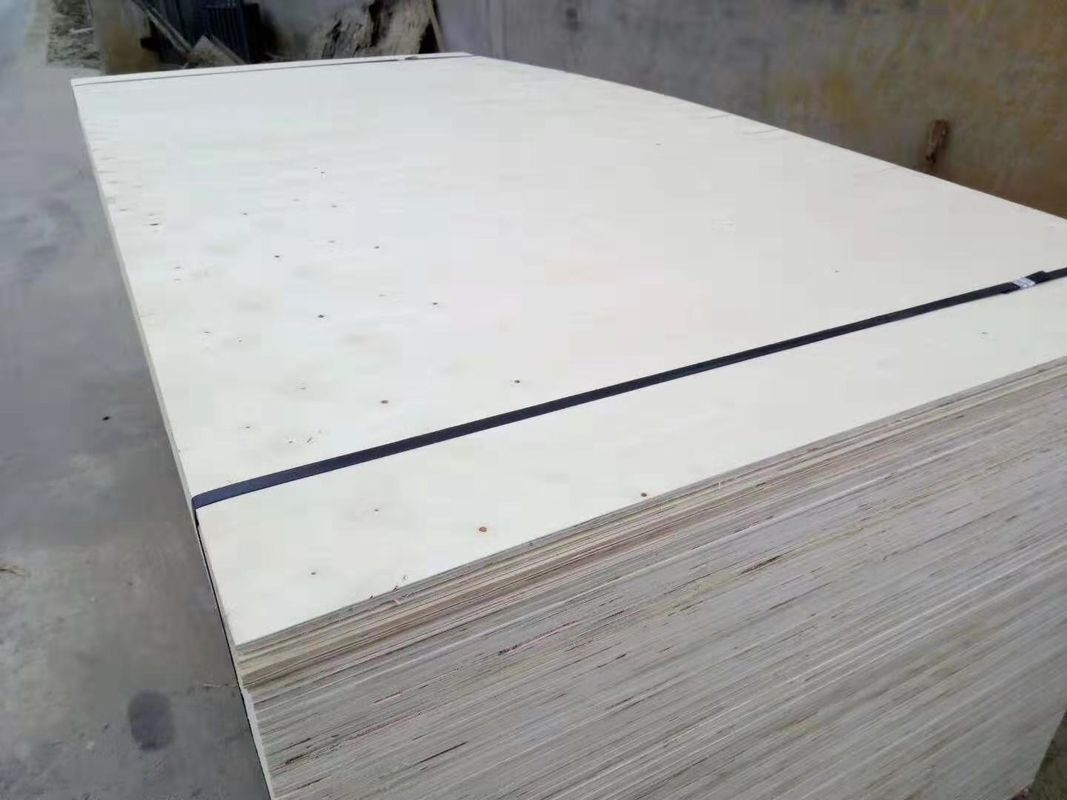 Poplar Core Plain Faced Commercial Grade Plywood For Pallet Package Use