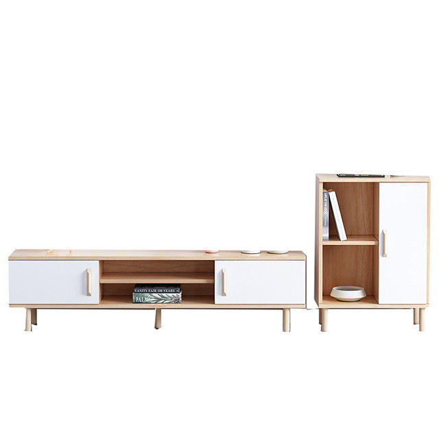 Simple Living Room Furniture Real Wood Tv Stands Perfect Package Modern Type